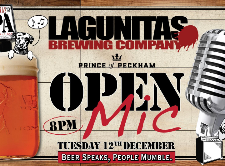 Open Mic fuelled by Lagunitas